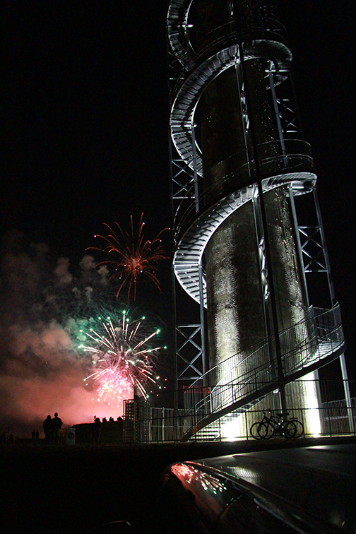 Fireworks and Rastin Tower at the Grand Opening